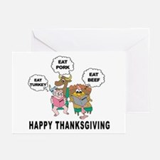 Funny Happy Thankgiving Greeting Cards (Package of