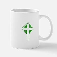 Pretty green christian cross 2 U Z Mug