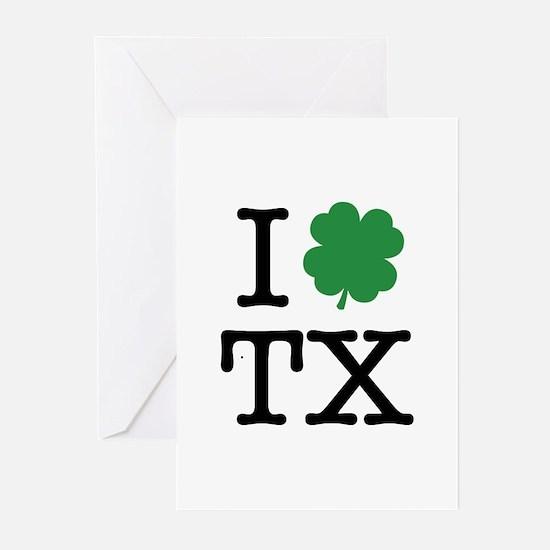 I Shamrock TX Greeting Cards (Pk of 20)