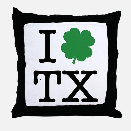I Shamrock TX Throw Pillow