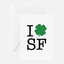 I Shamrock SF Greeting Card