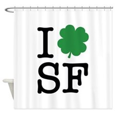 I Shamrock SF Shower Curtain