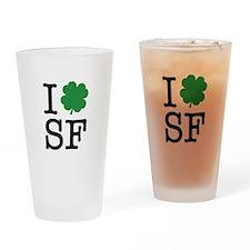 I Shamrock SF Drinking Glass