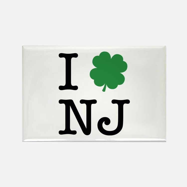 I Shamrock NJ Rectangle Magnet