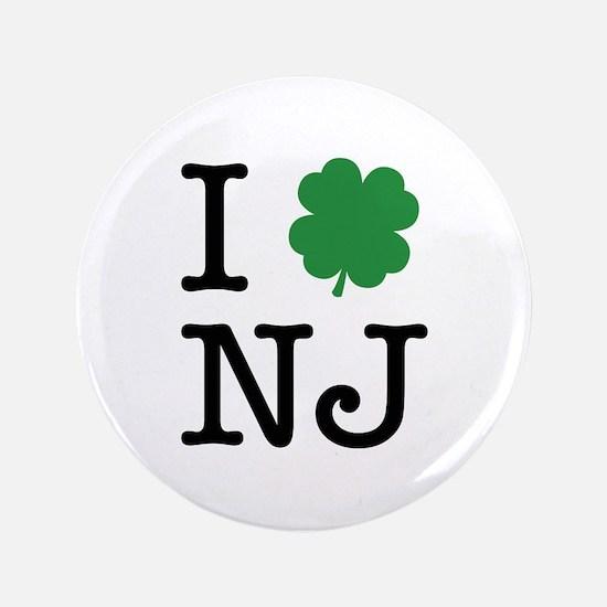 """I Shamrock NJ 3.5"""" Button"""