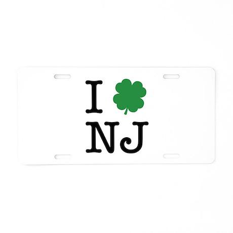 I Shamrock NJ Aluminum License Plate