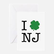 I Shamrock NJ Greeting Card
