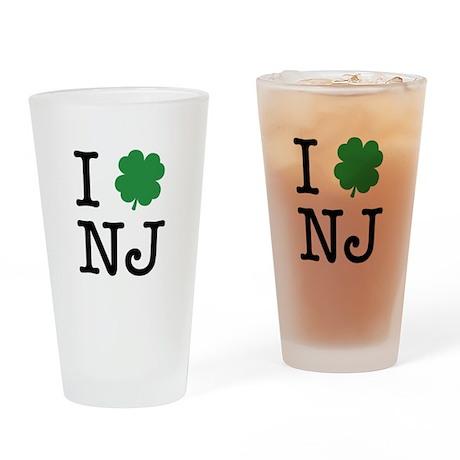 I Shamrock NJ Drinking Glass