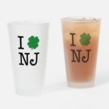 I Shamrock NJ Drinking Glass