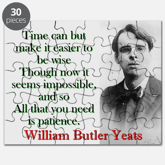 Time Can Make It Easier - Yeats Puzzle