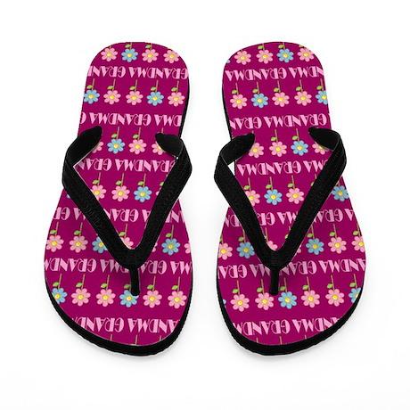 Grandma Gift Daisy Flower Flip Flops