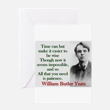 Time Can Make It Easier - Yeats Greeting Card
