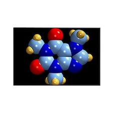 Caffeine molecule - Rectangle Magnet (10 pk)