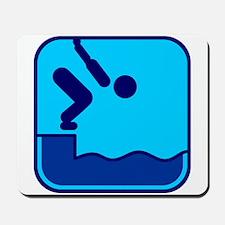 Schwimmen Mousepad
