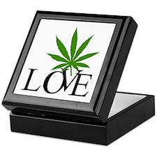 Love Cannabis Weed Keepsake Box