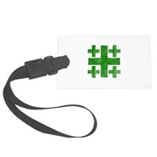 Pretty green christian cross 3 U P Luggage Tag