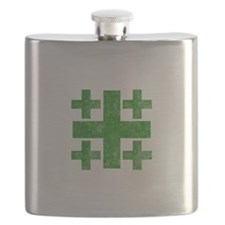 Pretty green christian cross 3 U P Flask