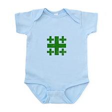 Pretty green christian cross 3 U P Body Suit