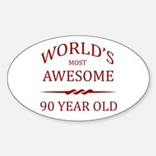 World's Most Awesome 90 Year Old Decal