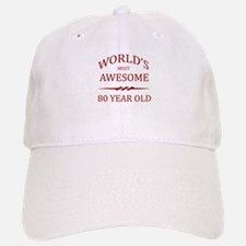 World's Most Awesome 80 Year Old Baseball Baseball Cap