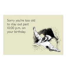 Too Old for Your Birthday Postcards (Package of 8)