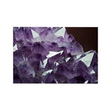 Amethyst crystals - Rectangle Magnet (10 pk)