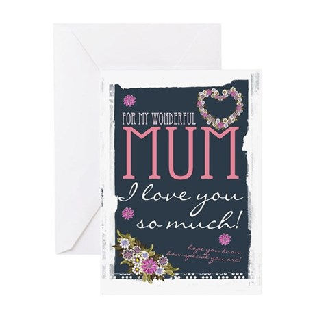 Mother's Day Card For Mum Trendy Design