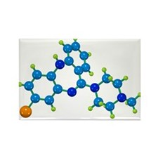 drug molecule - Rectangle Magnet (10 pk)