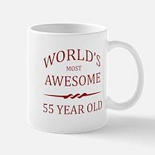 World's Most Awesome 55 Year Old Mug