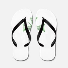 Pretty green christian cross 4 L v Flip Flops