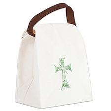 Pretty green christian cross 4 L v Canvas Lunch Ba