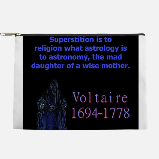 Superstition Is To Religion - Voltaire Makeup Pouc