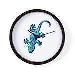 Blue Lizard Wall Clock