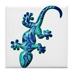 Blue Lizard Tile Coaster