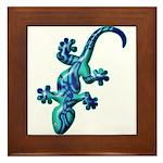 Blue Lizard Framed Tile