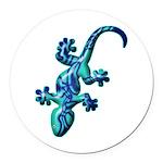 Blue Lizard Round Car Magnet