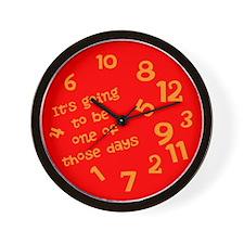 Unique Jumbled Wall Clock
