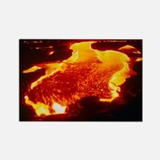 Lava flow at night - Rectangle Magnet (10 pk)