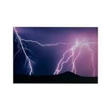 ght, New Mexico - Rectangle Magnet (10 pk)