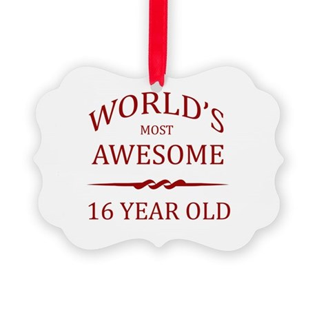 World's Most Awesome 16 Year Old Picture Ornament