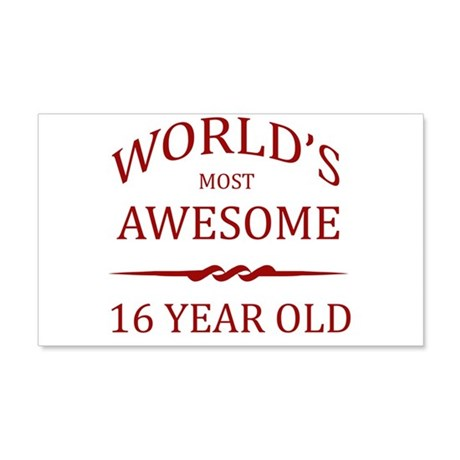 World's Most Awesome 16 Year Old 20x12 Wall Decal