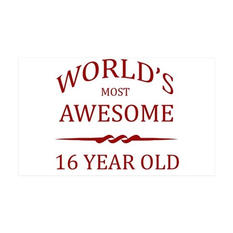 World's Most Awesome 16 Year Old 35x21 Wall Decal