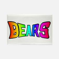 BEARS RAINBOW TEXT Rectangle Magnet