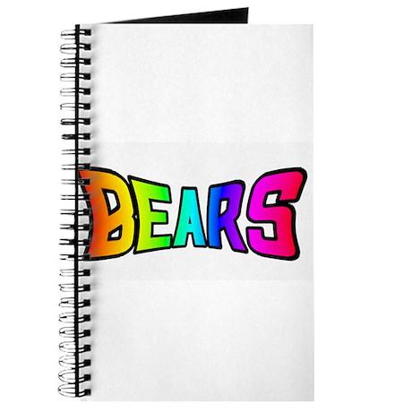 BEARS RAINBOW TEXT Journal