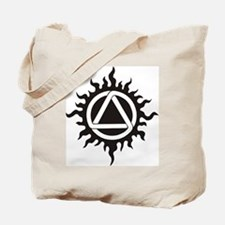Tote Bag with Flame Aurora Celtic Triad Design