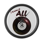 Know it All Large Wall Clock
