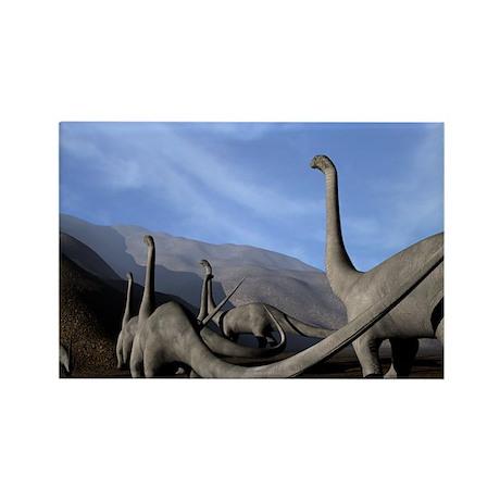 Sauropod dinosaurs - Rectangle Magnet (10 pk)