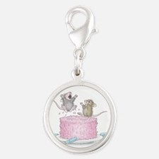 Exciting Celebration Silver Round Charm