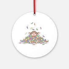Raining Confetti Ornament (Round)