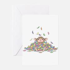 Raining Confetti Greeting Cards (Pk of 20)